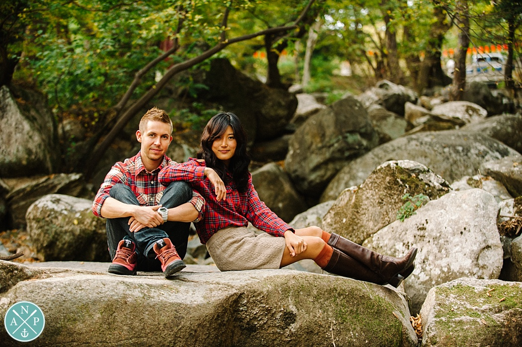 Abercrombie inspired engagement shoot, engagement photos in Korea, Korean temple, destination wedding photographer