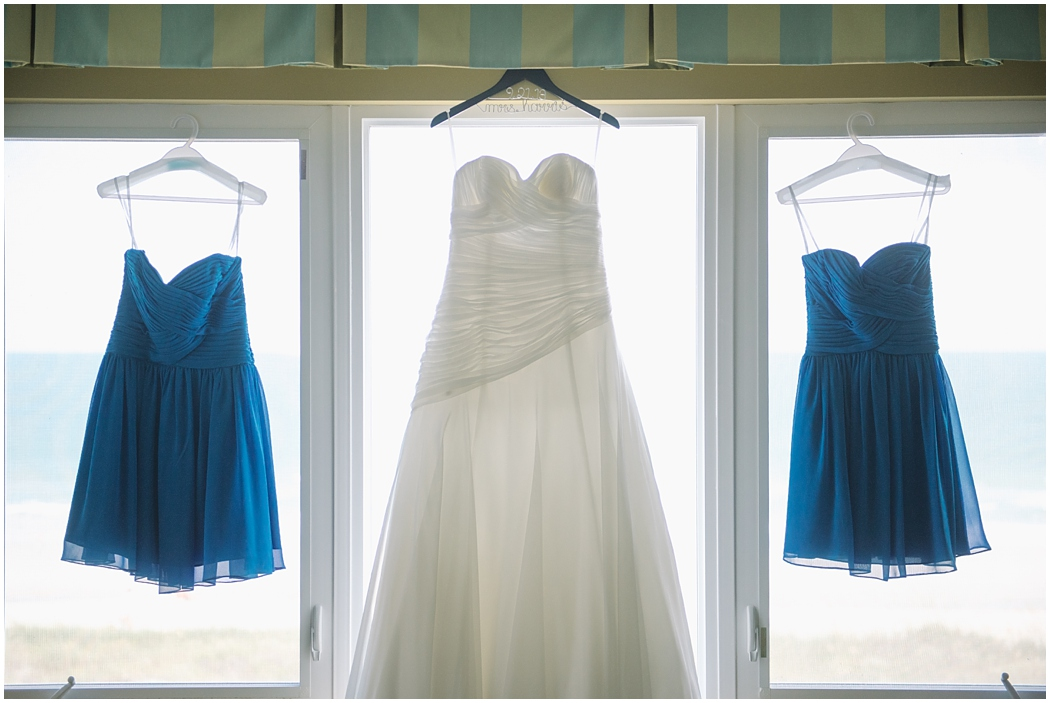 Blue bridesmaid dresses, wedding dress, Photo by Aaron Nicholas Photography, destination wedding photographer based in Charleston, South Carolina