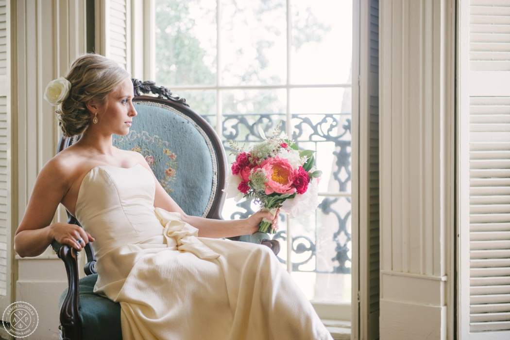 Bridal Session at The Palmer House in Charleston, South Carolina - Photo by Aaron and Jillian Photography