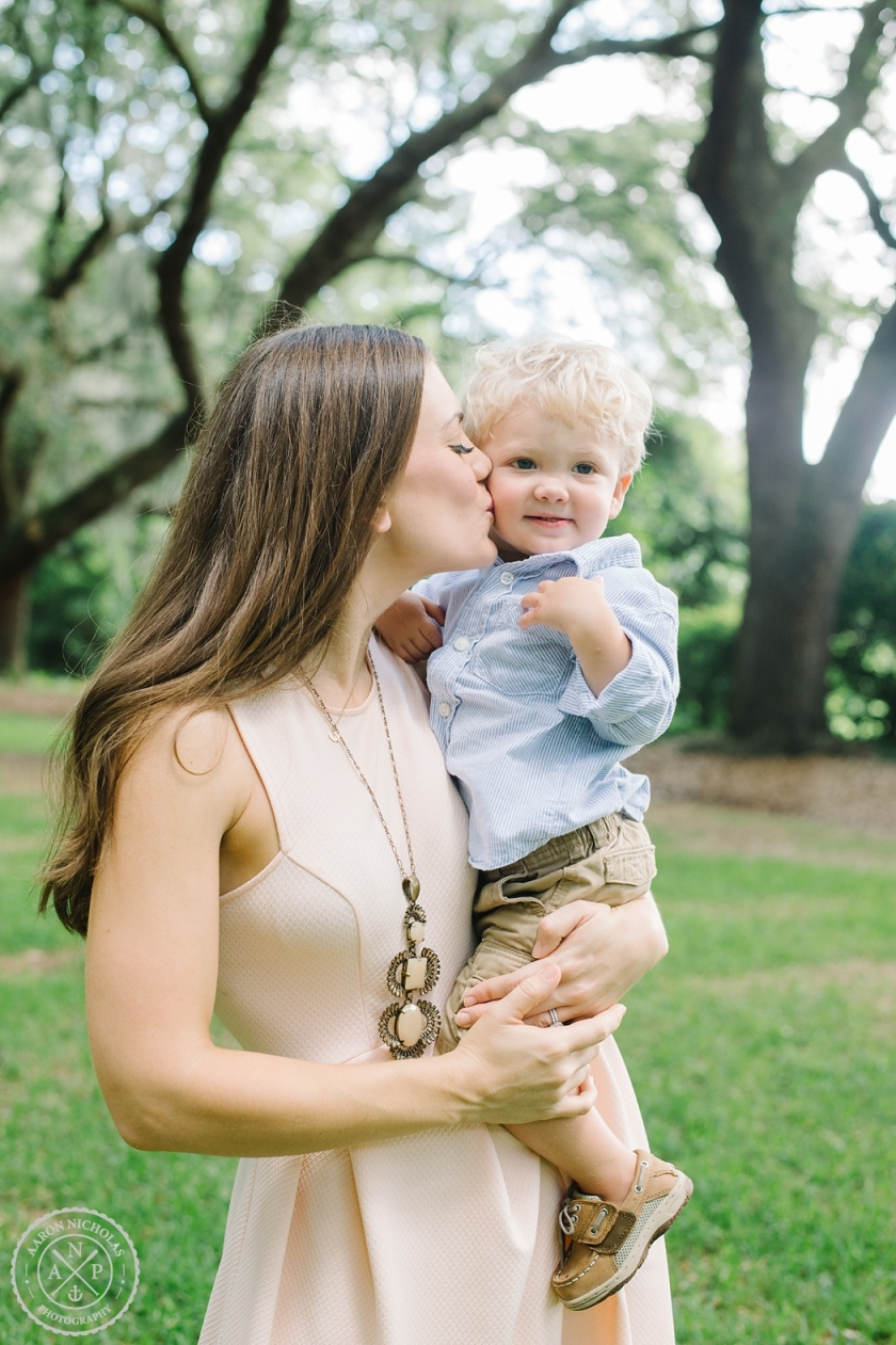 Family portrait session at Legare Waring House by Aaron and Jillian Photography
