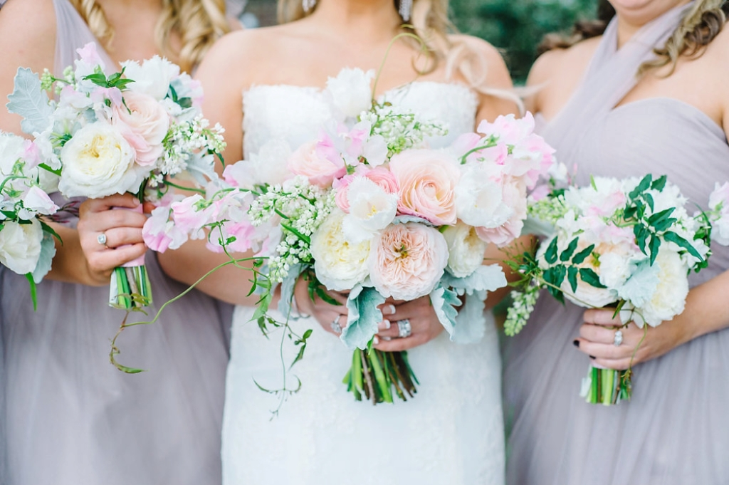 Historic Rice Mill wedding, by Aaron and Jillian Photography, pink, green and ivory wedding bouquets, bouquet photo, Charleston wedding,