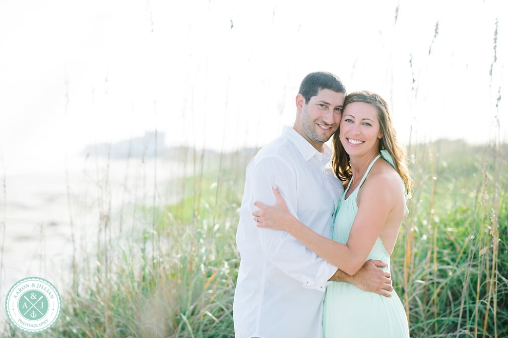 Nikki and Jaime - Folly Beach engagement session by Charleston wedding photographers Aaron and Jillian Photography -_0001