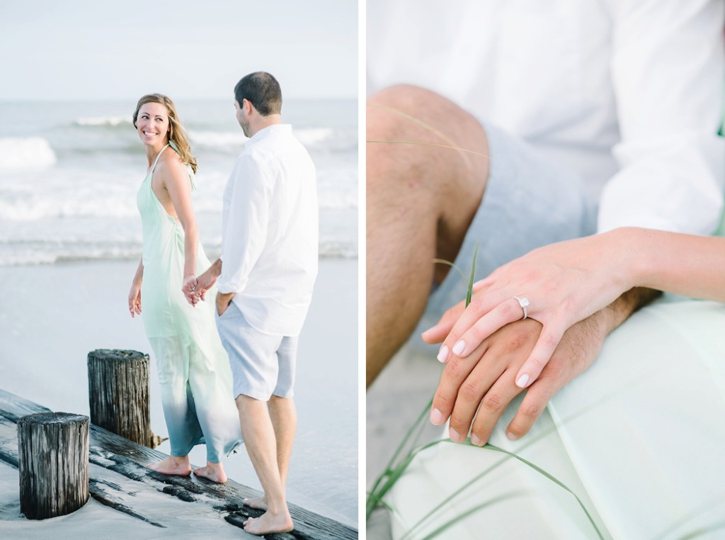 Nikki and Jaime - Folly Beach engagement session by Charleston wedding photographers Aaron and Jillian Photography -_0002