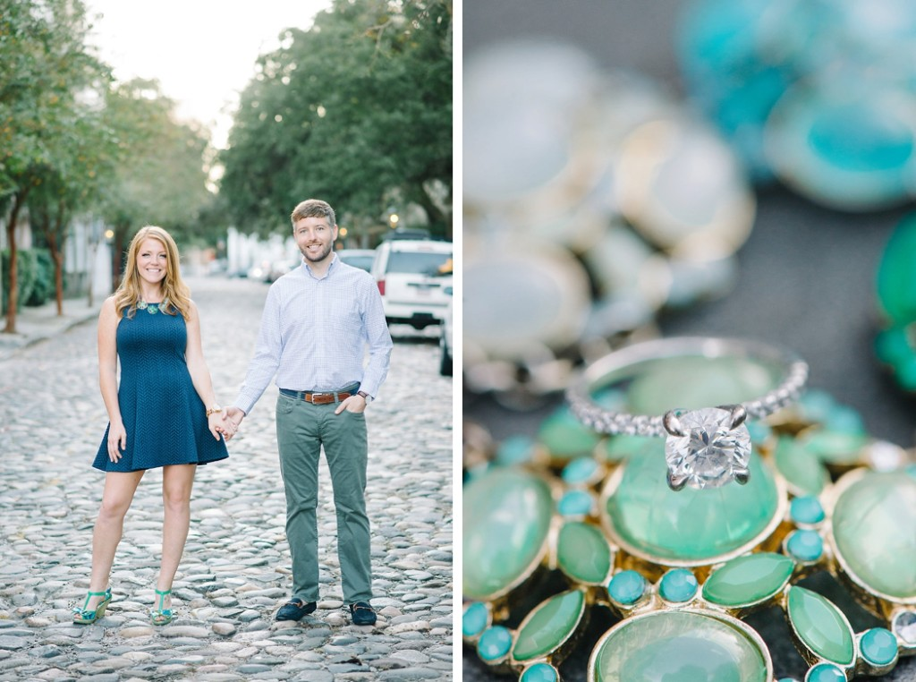 Heather Wilson and John Story downtown Charleston engagement photos, by wedding photographer Aaron and Jillian Photography -_0002
