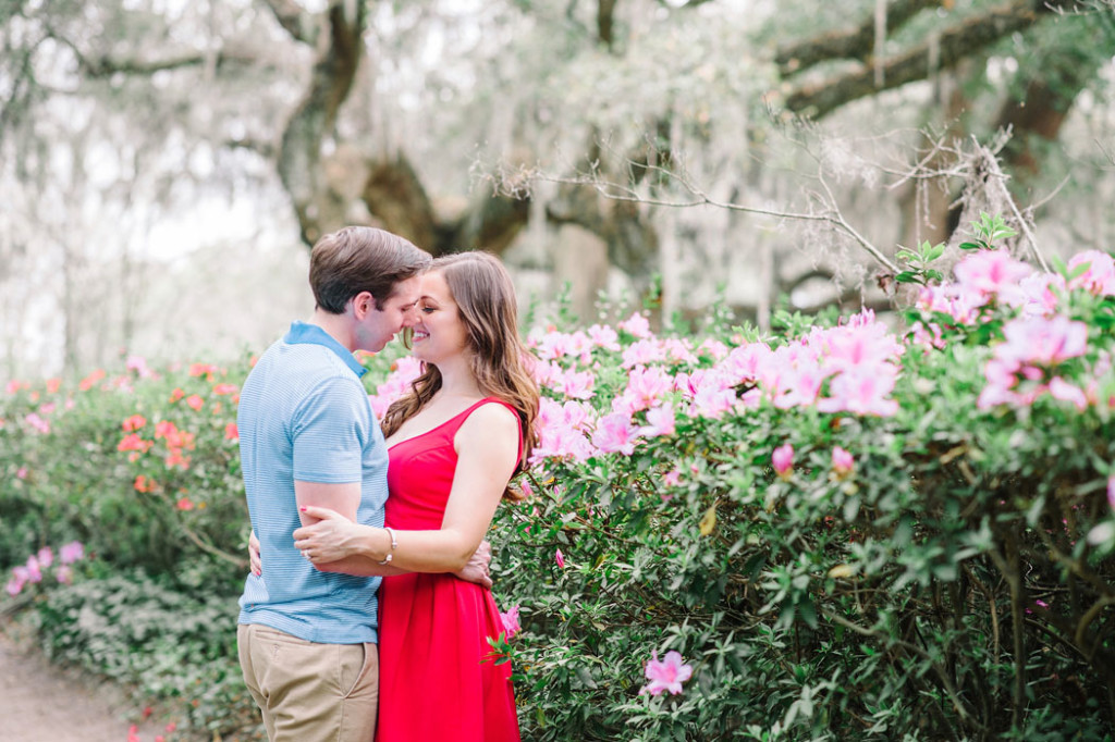 Katie + Will Spring Middleton Engagement photos in March by Charleston wedding photographers Aaron and Jillian Photography -