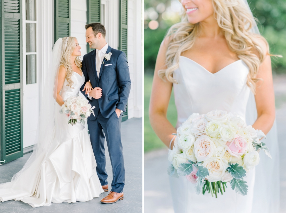 Beautiful blonde bride at her Summer wedding at at Lowndes Grove Plantation wedding by Aaron and Jillian Photography in Charleston, SC lowndes-grove-wedding-by-charleston-wedding-photographer-aaron-and-jillian-photography_0030