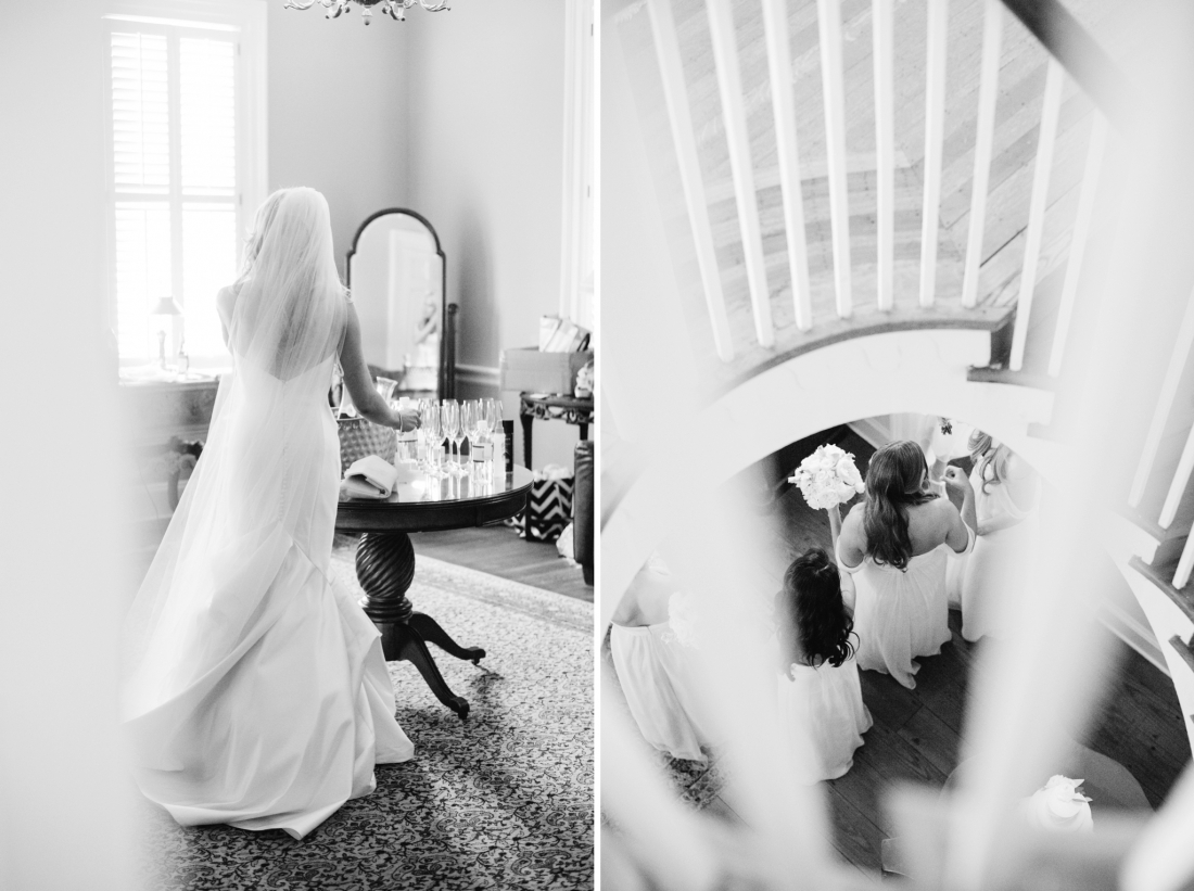 Bride in the bridal suite at a Charleston wedding at Lowndes Grove Plantation by Charleston wedding photographers, Aaron and Jillian Photography lowndes-grove-wedding-by-charleston-wedding-photographer-aaron-and-jillian-photography_0045