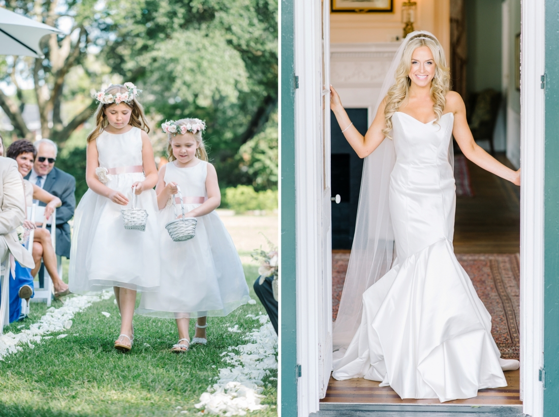 Kenly Uphaus and two flower girls at a Charleston wedding at Lowndes Grove Plantation by Charleston wedding photographers, Aaron and Jillian Photography lowndes-grove-wedding-by-charleston-wedding-photographer-aaron-and-jillian-photography_0048
