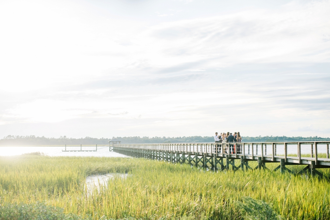 The dock at sunset at a Charleston wedding at Lowndes Grove Plantation by Charleston wedding photographers, Aaron and Jillian Photography lowndes-grove-wedding-by-charleston-wedding-photographer-aaron-and-jillian-photography_0063