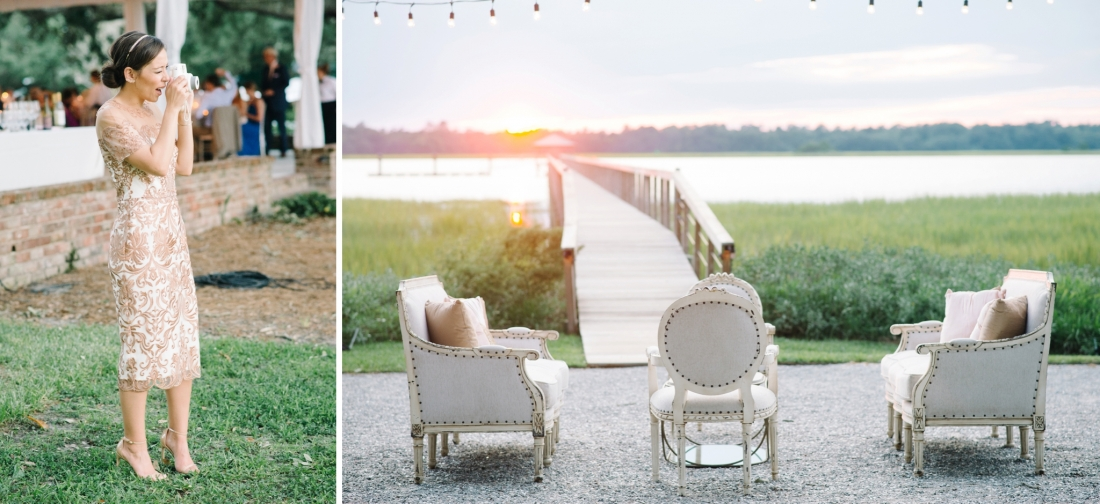 Lounge furniture at Lowndes Grove Plantatio lowndes-grove-wedding-by-charleston-wedding-photographer-aaron-and-jillian-photography_0066