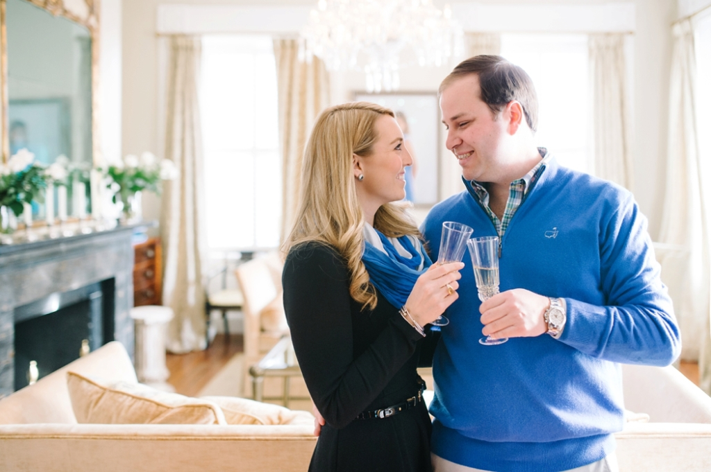 South of Broad engagement photos inside of a Charleston historic mansion, Charleston wedding photographer Aaron and Jillian Photography