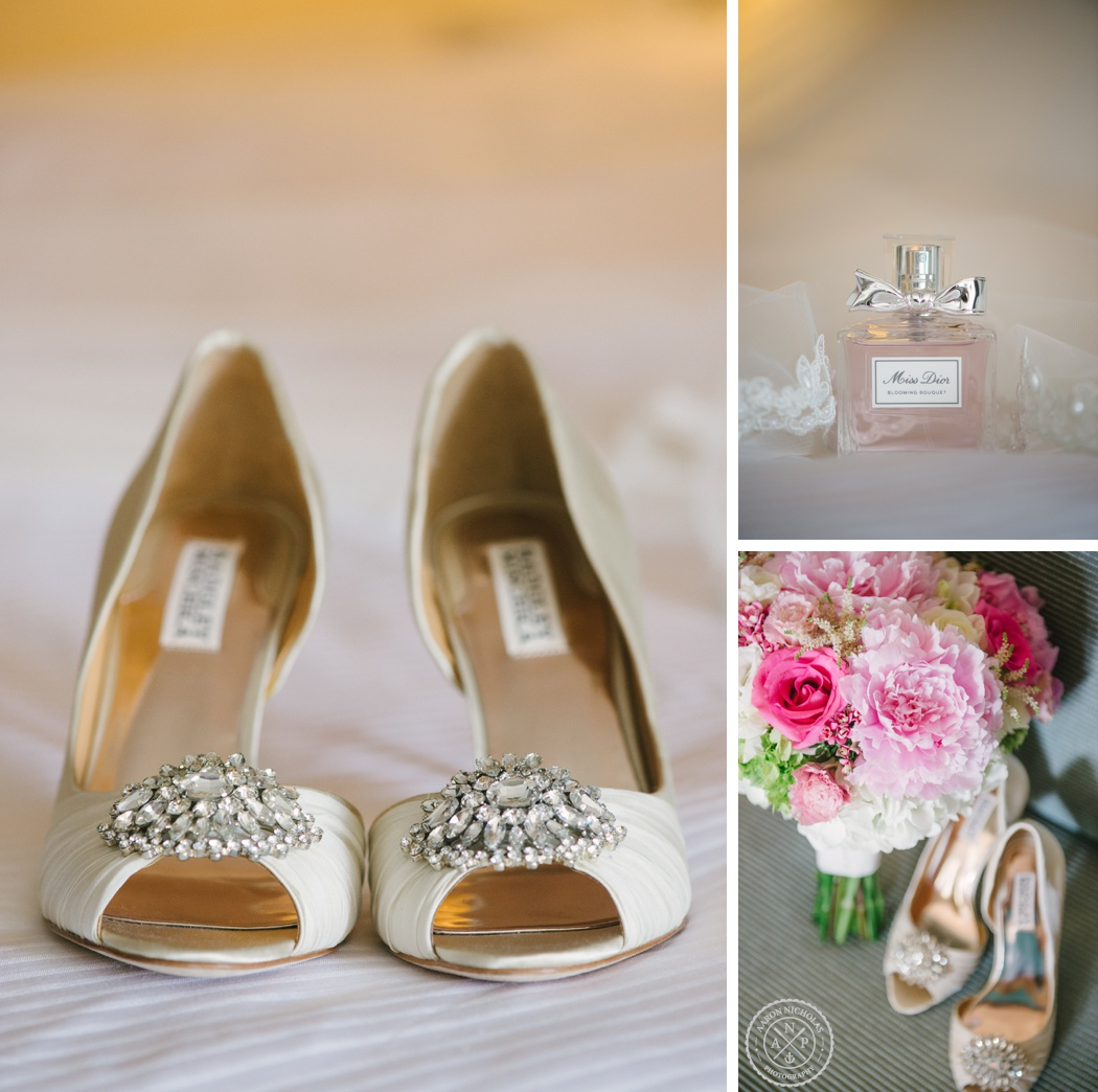 Badgley miscka bridal shoes and Miss Dior perfume - by Charleston Wedding photographers Aaron and Jillian Photography -_0084