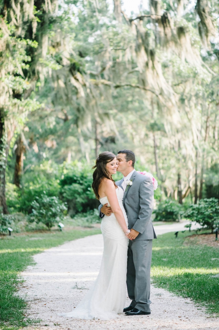 Bride and Groom at their Honey Horn Plantation Wedding in Hilton Head by Charleston wedding photographer Aaron and Jillian Photography