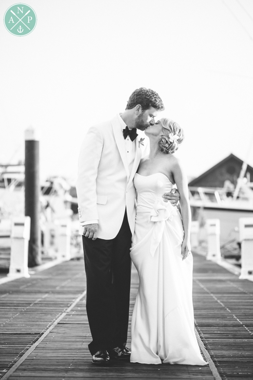 Aaron and Jillian Photography, Bride and groom portraits in the Charleston Marina for Tate and Davis