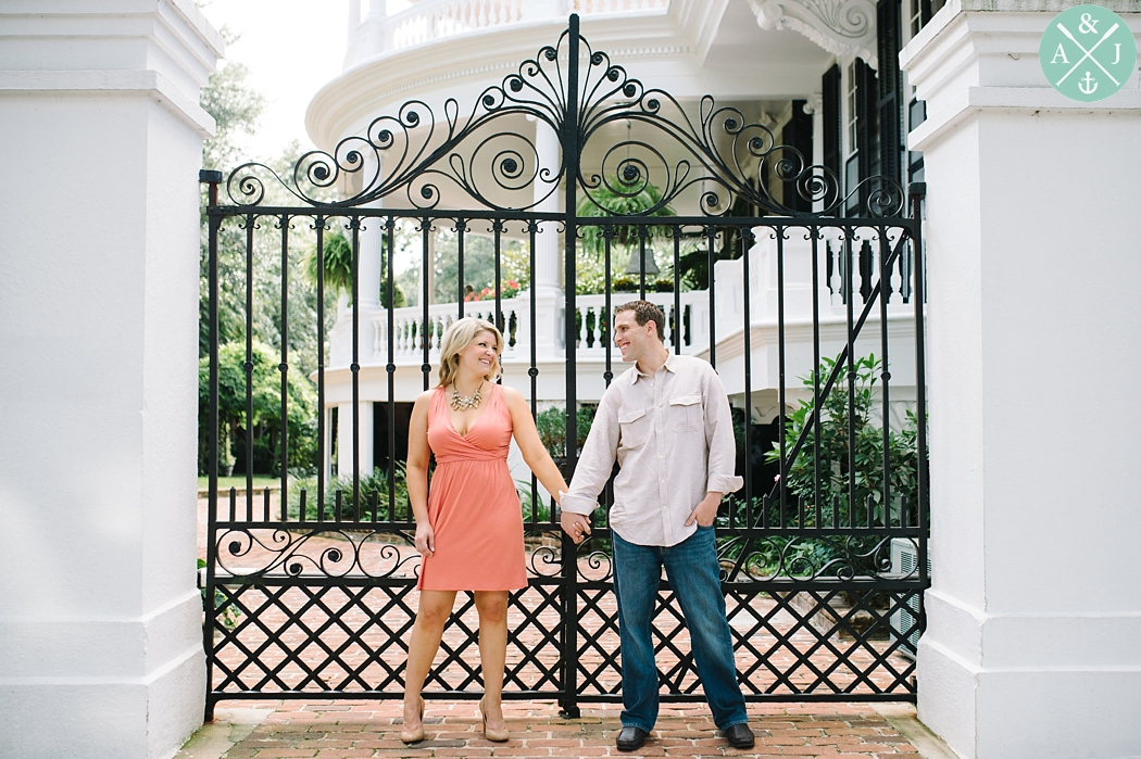 Downtown Charleston engagement photos by Aaron and Jillian Photography, Charleston and destination Wedding photographers - 8
