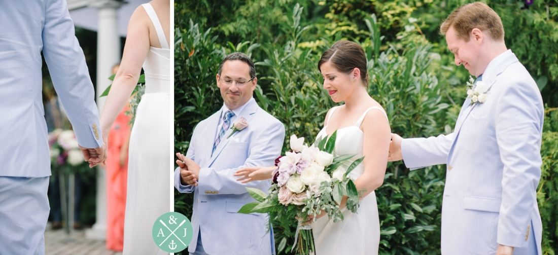 Bride crying at a New York Botanical Gardens wedding by Charleston wedding photographers Aaron and Jillian Photography -_0042