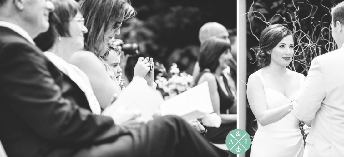 Wedding vows at a New York Botanical Gardens wedding by Charleston wedding photographers Aaron and Jillian Photography -_0045