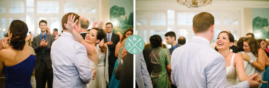 Bride and groom dancing at a New York Botanical Gardens wedding by Charleston wedding photographers Aaron and Jillian Photography -_0055