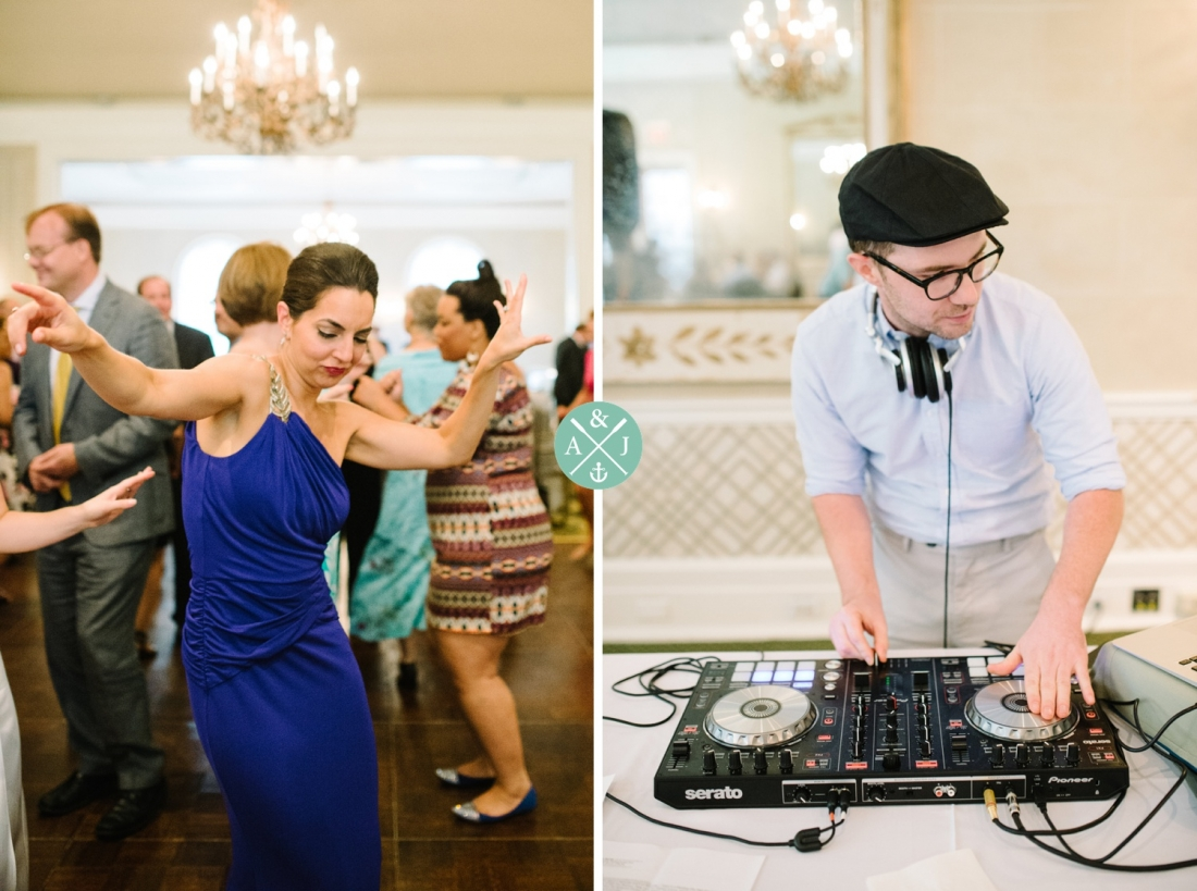 Guests dancing at a New York Botanical Gardens wedding by Charleston wedding photographers Aaron and Jillian Photography -_0058