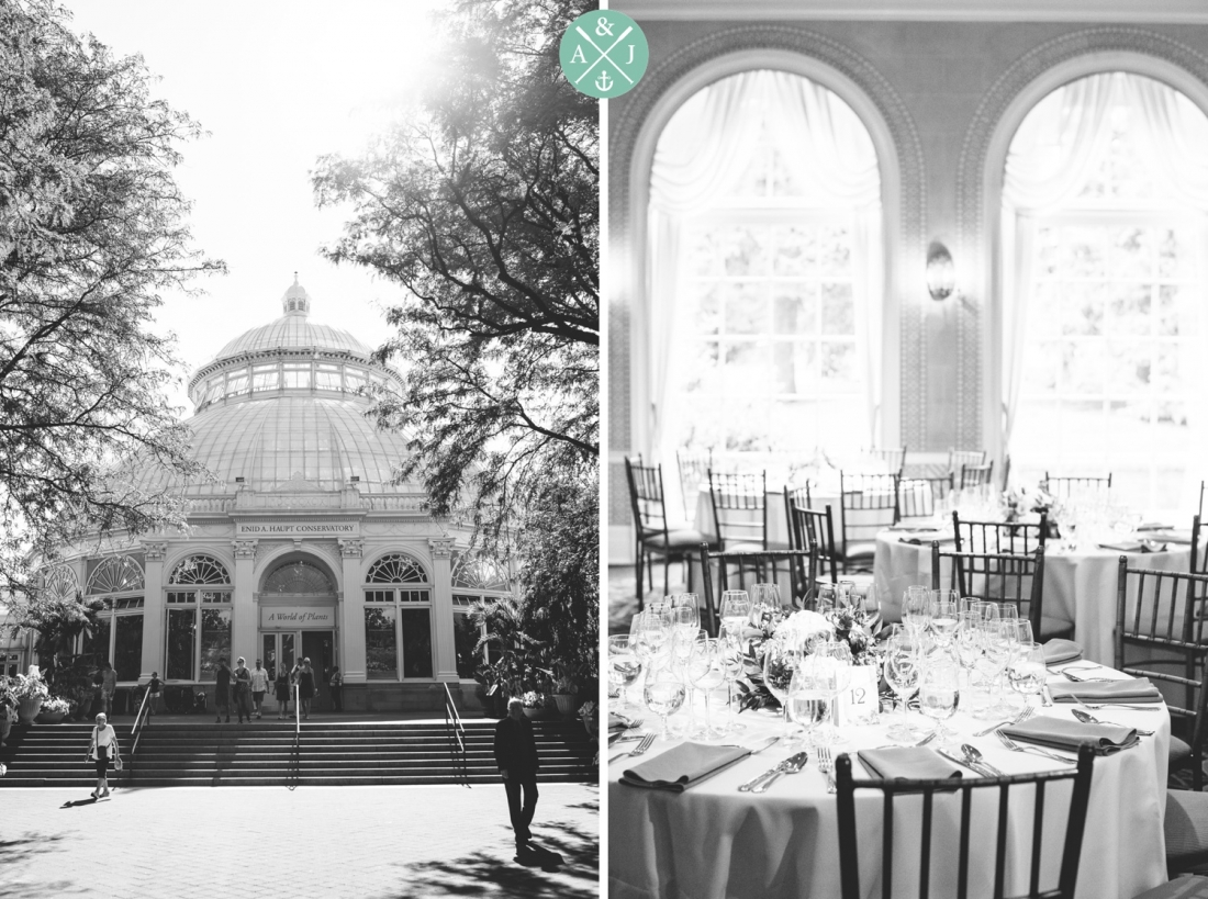 Reception site at a New York Botanical Gardens wedding by Charleston wedding photographers Aaron and Jillian Photography -_0070