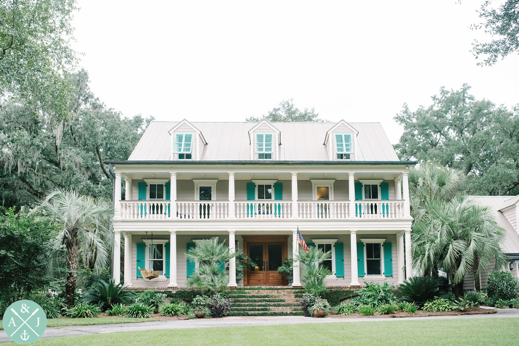 Private home used as a wedding venue near Charleston, SC, Wando River wedding, charming charleston home on the Wando river